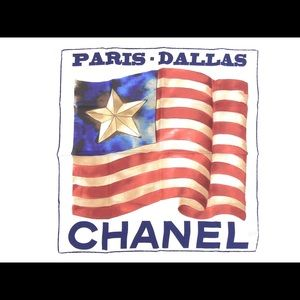 Chanel Texas Runway 100% Silk Scarf